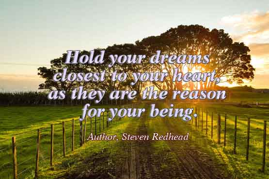 Dreams and desires Quote Steven Redhead
