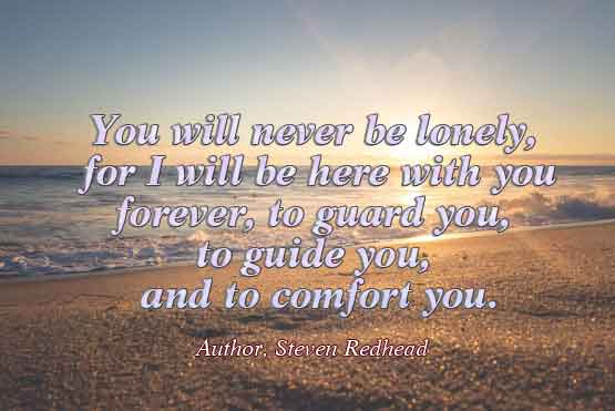 Never be lonely quote Steven Redhead